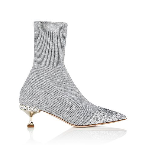 Women's Rib-Knit Sock-Style Ankle Boots