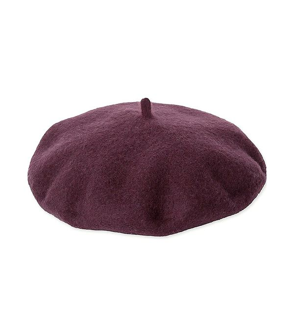 Women's Wool Beret, Black