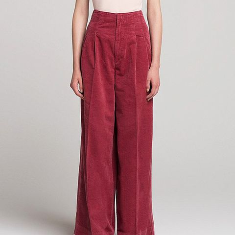 Women's U Corduroy Wide-leg Pants,