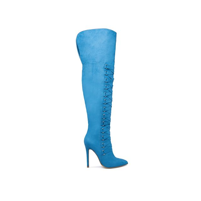 ShoeDazzle Olivia Thigh-High Corset Boots VIP Member Price