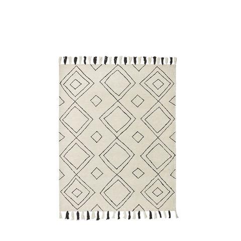 Diamond Trellis Tassel Wool Rug