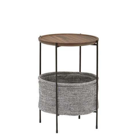 Meeks Round Storage Basket Side Table