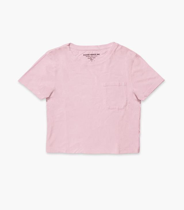Richer Poorer Boxy Crop Tee in Lilac