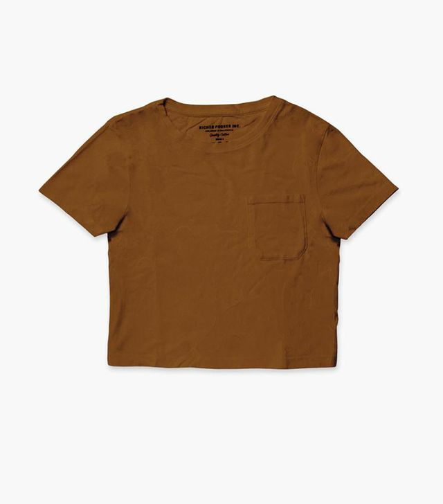 Richer Poorer Boxy Crop Tee in Tobacco