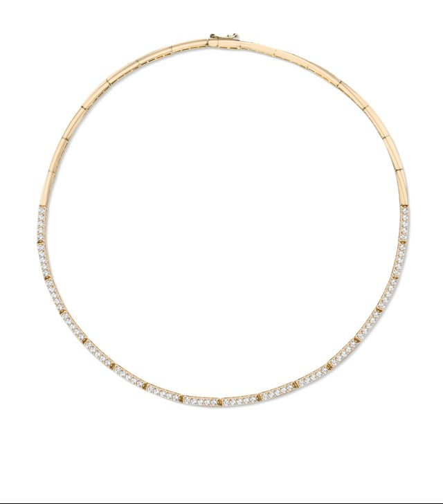 The Last Line Crescent Diamond Eternity Necklace