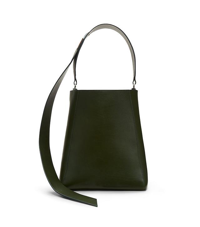 luxe calf bucket bag