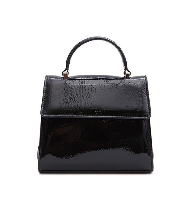 Marlow Bag in Patent Black Crinkle