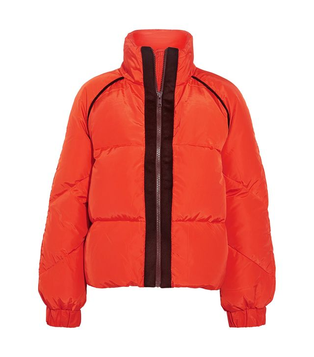 Wool Felt-trimmed Quilted Shell Down Jacket