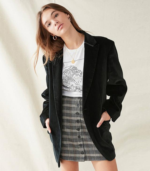 Urban Outfitters Vintage Oversized Velvet Blazer