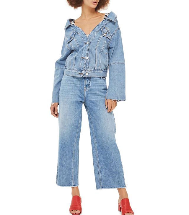 Women's Off The Shoulder Denim Jacket