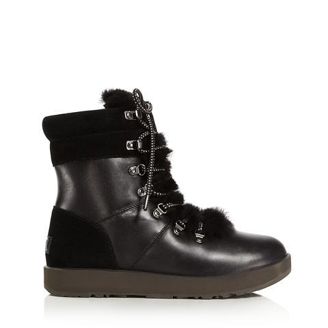 Vicki Waterproof Leather & Sheepskin Boots