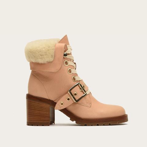 Kay Shearling Lace Boots