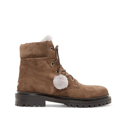 Elba Shearling-Lined Suede Ankle Boots