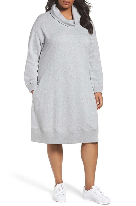 Plus Size Women's Caslon Cowl Neck Knit Dress