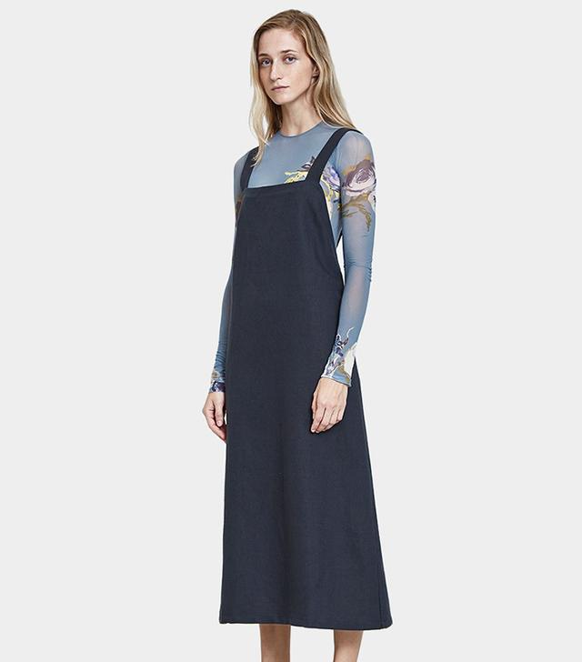 Duffy Overall Dress in Petrolium