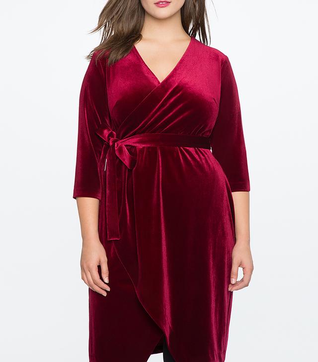 Eloquii Velvet Wrap Dress