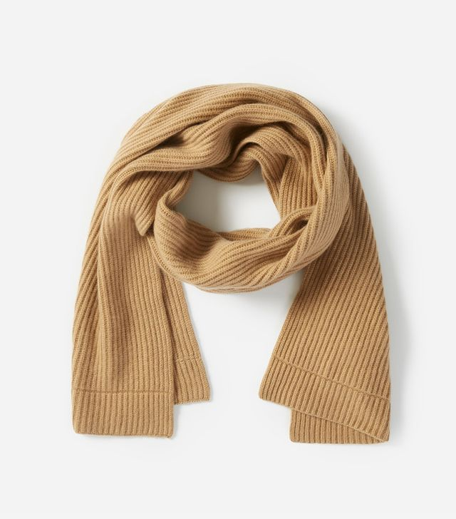 Women's Cashmere Rib Scarf by Everlane in Camel