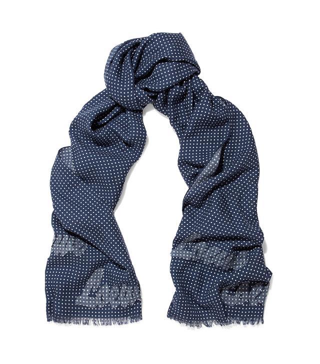 Appliquéd Polka-dot Wool And Silk-blend Scarf