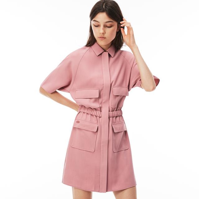 Lacoste Crepe Zip Dress