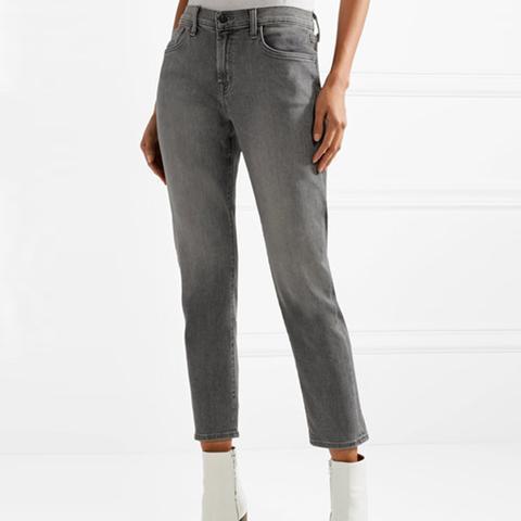 Sadey Cropped Slim Boyfriend Jeans