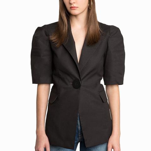 Cali Big Button Linen Jacket