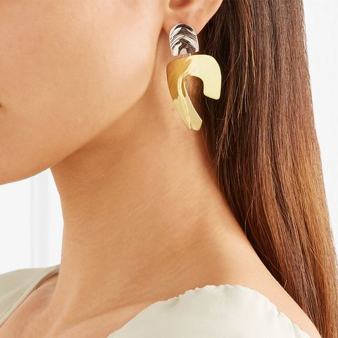 Totem Gold-Tone and Silver Earrings