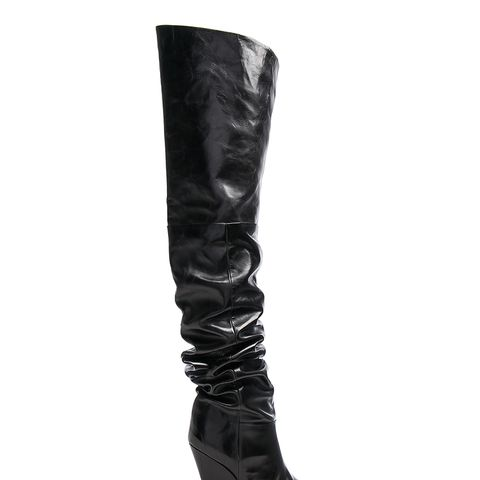 Lostynn Leather Thigh High Boots