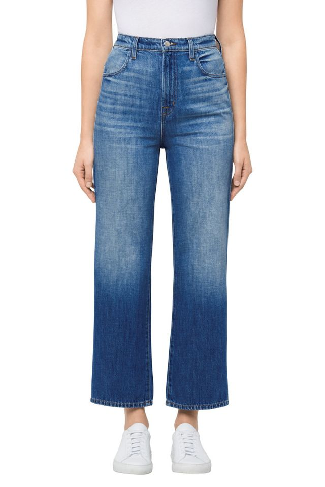 Joan High-Rise Straight Wide Leg Crop In Mimic
