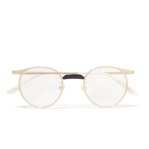 Round-Frame Gold-Tone Optical Glasses