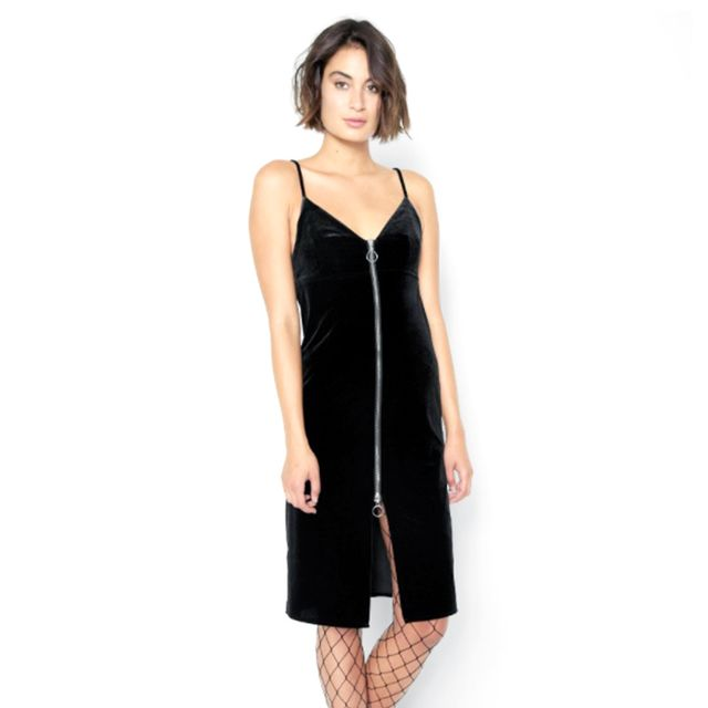 7 for All Mankind Velvet Slip Dress