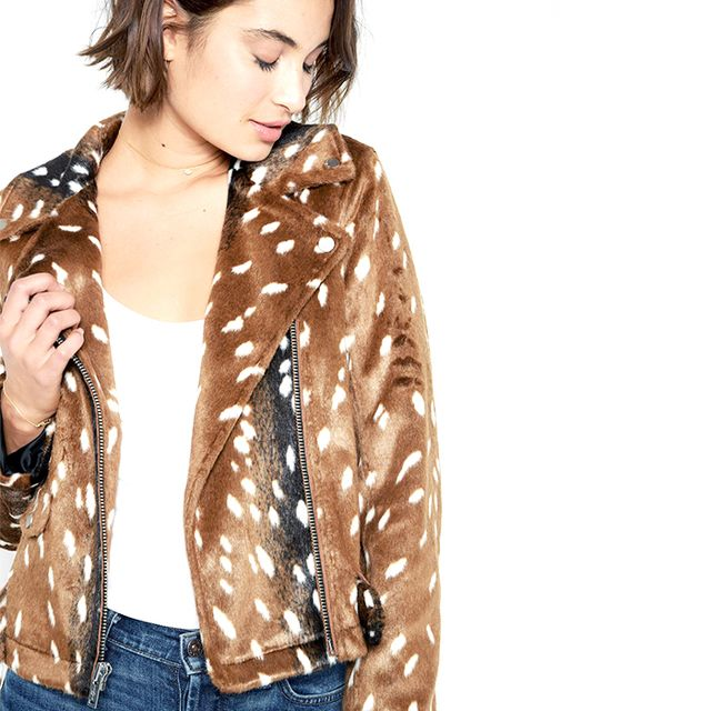 7 for All Mankind Fur Moto Jacket