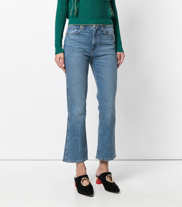 Khaite Benny Kick Flare Jeans