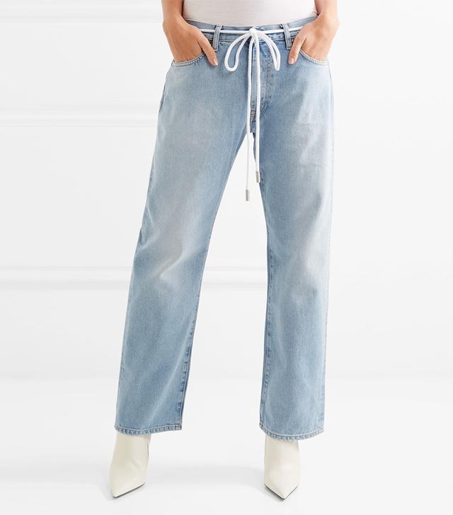 Off-White Diag Printed Boyfriend Jeans