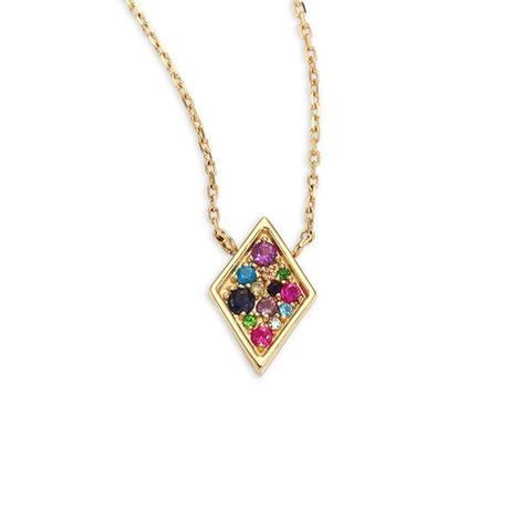Lifesaver Cleo Rainbow Sapphire Pendant Necklace