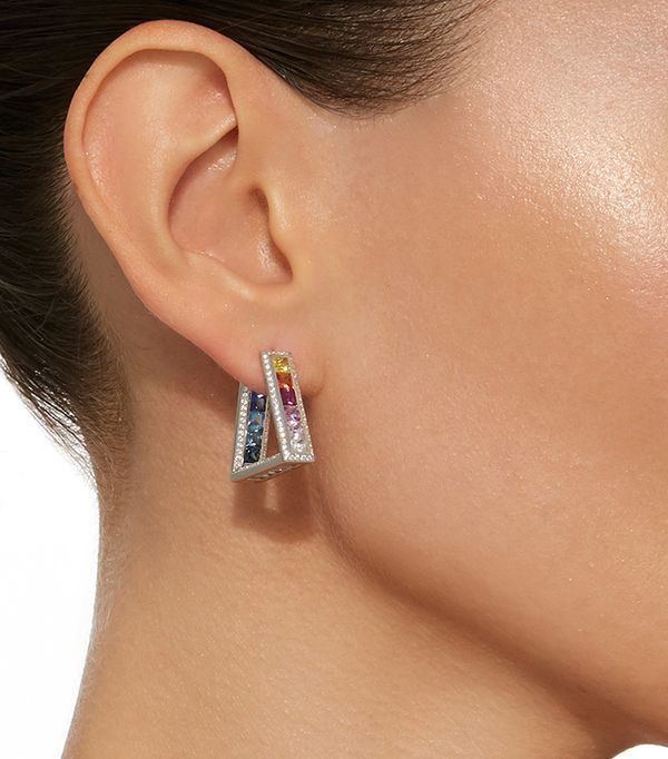 One-of-a-Kind Crescent Rainbow Earrings