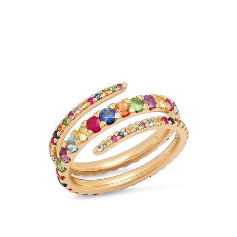 Multi-Colored Coil Ring