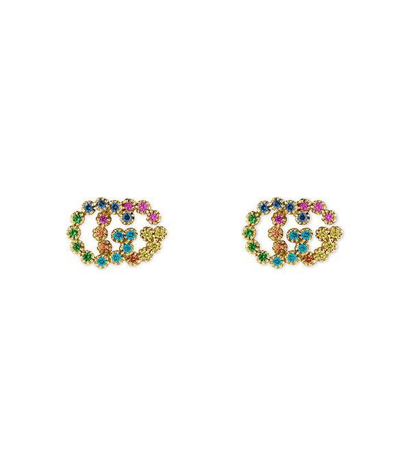 Double-G Multistone Stud Earrings