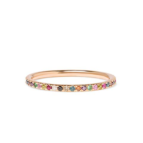 Thread 18-Karat Rose Gold Multi-Stone Ring