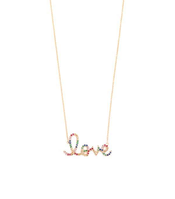 14k Gold Rainbow Love Necklace