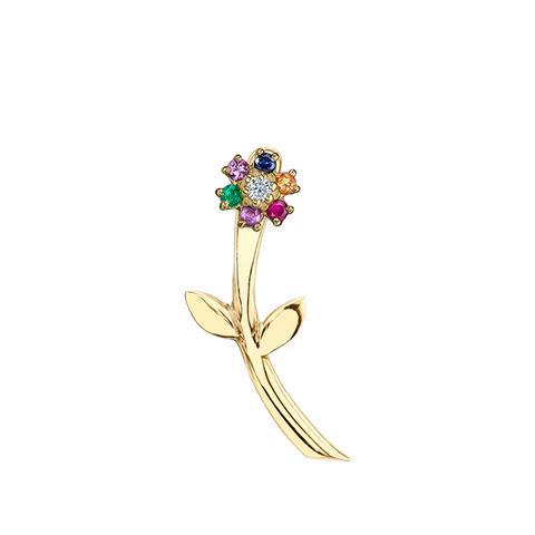 Mini Rainbow Teddy Flower Earring