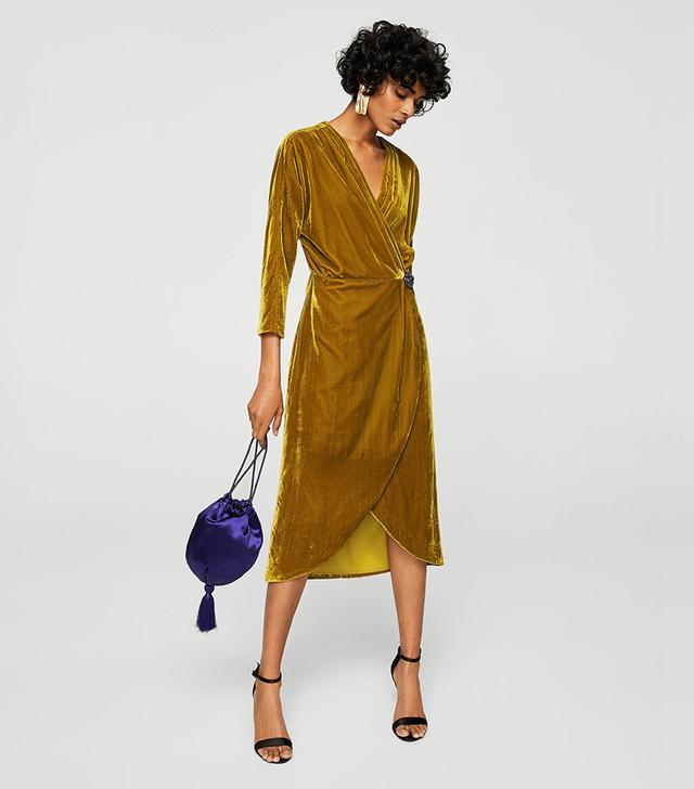 Velvet crossed dress