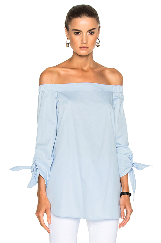 Poplin Off the Shoulder Tunic