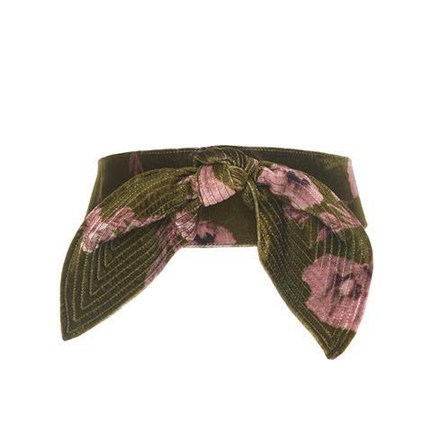 El Cigala Floral Velvet Belt