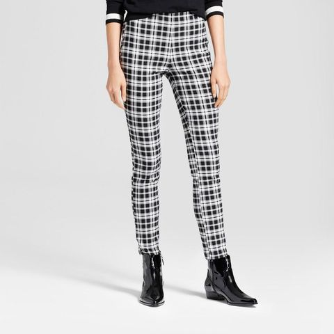 Skinny Plaid Crop Pants