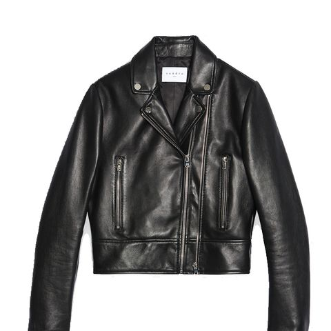 Leather Jacket With Double Zip