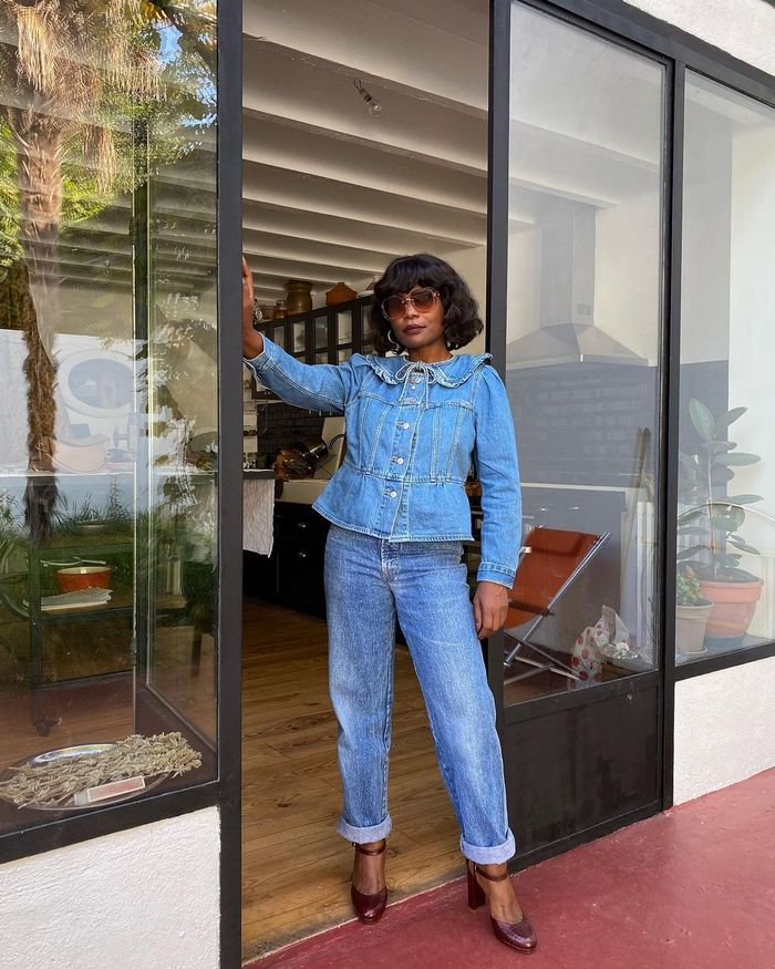 What to Wear to the Pub: franny fyne in double denim