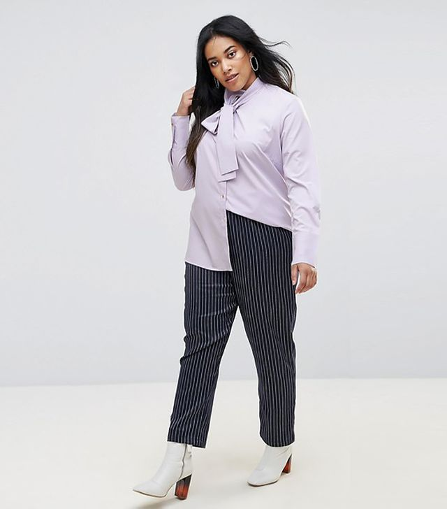 Unique 21 Hero Long Sleeve Shirt With Tie Neck Detail
