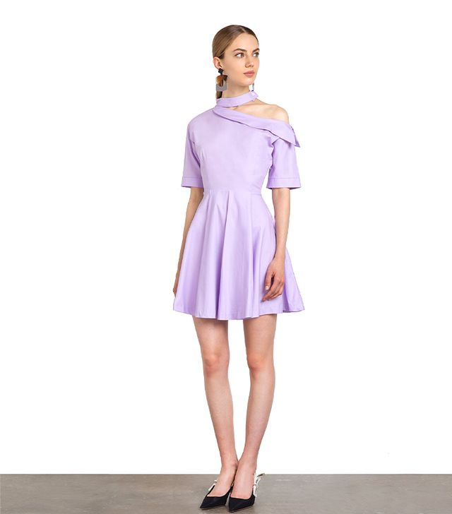 Pixie Market Kiko Light Purple Choker Dress
