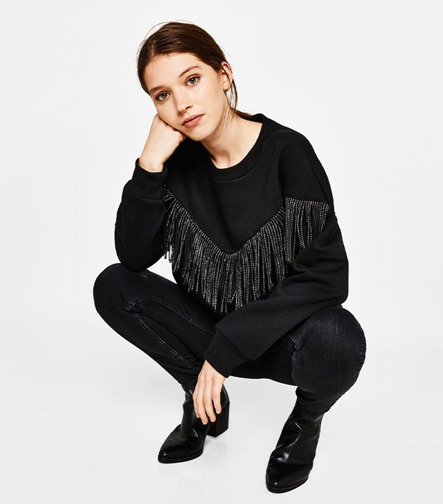 Bershka Sweatshirt With Fringe