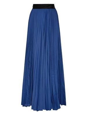 Pleated Silk-satin Maxi Skirt